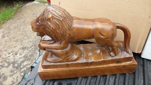 Large Lion Carving $40. 10 inches tall by 13 inches long. Prince George British Columbia image 5