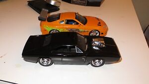 jada toys 1/24 scale Dom's dodge charger and Brian's Toyota supr