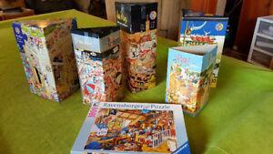 Puzzle Casse-têtes Heye, Ravensburger 750-1500 morceaux 8 à 15$