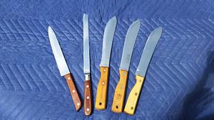 Couteaux de cuisine vintage ''made in japan''