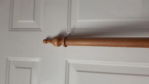 Solid pine curtain rod