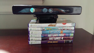 360 Kinect w/6 games