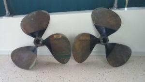 Brass Propellers 21x19 Left and Right Hand Rotation, like new