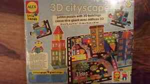 Brand new sealed Alex little hands 3D cityscape puzzle West Island Greater Montréal image 1