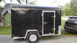 6 x 10 Enclosed Cargo Trailer with Rear Ramp