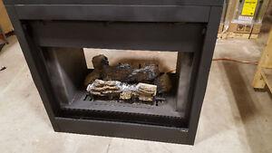 Beautiful double sided gas fireplace