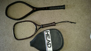 2 tennis / squash racquets only $9 each in excellent condition..