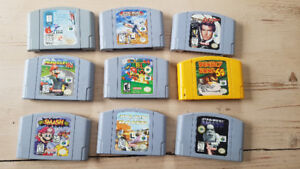 N64 4 controllers and games