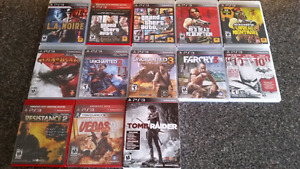 13 PS3 games all in excellent condition.