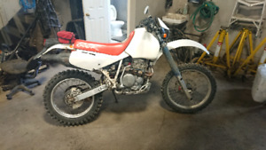 Honda Xr600r  Street legal Blue plated dual sport