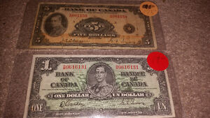 Looking to purchase any and all paper money pre 1988............ London Ontario image 1