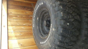 Full set of 33x12.5x15 bf good Ritch mud terrain. Brand new