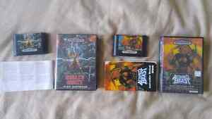 Complete in box Altered Beast, Ghouls and Ghosts-Sega Genesis