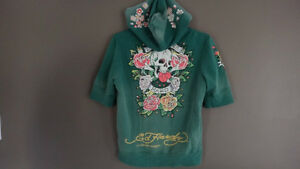 Ed Hardy Half sleeve zip up hoody Cambridge Kitchener Area image 3