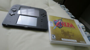 Nintendo 2DS FOR SALE- Lightly Used, includes Ocarina of Time 3D