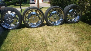 24 INCH CHROME RIMS FOR SALE
