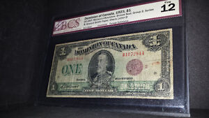 Rare 1923 Dominion Of Canada One Dollar Test Note DC-25IT...Coin