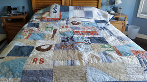 Pottery Barn Kids QUEEN Size Baseball Quilt and Shams