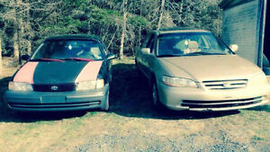 Part out: 1998 Toyota Tercel Coupe (2 door)