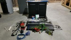 Fish tank accessories and cabinet/stand