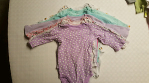 $3 for all! Seven 12m long-sleeve onesies