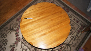 Round Solid Oak Coffee Table