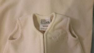 Newborn HALO Fleece Sleepsack Wearable Blanket,Off White