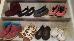 Kids and Ladies Shoes, Boots, Sandals and Flats - Size 5 and 6