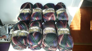 PATONS DECOR YARN * 8 SKEINS/BALLS *  NEW!!