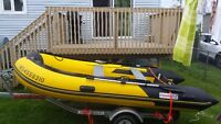 12 foot inflatable, 20hp 4 stroke and trailer