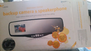 Backup camera and speakerphone for car