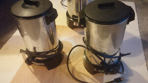 2 Westbend coffee maker urns.