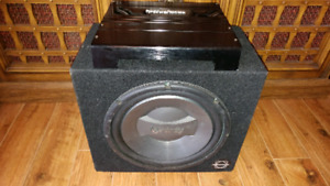 "12"" 1200W Infinity Subwoofer and Rockford fosgate amp"