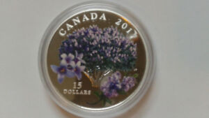 2017 $15 Silver Coin - Celebration of Spring : Lilac Blossoms