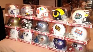 NFL + CFL Football Super Bowl + GC Mini-helmet + Bobblehead