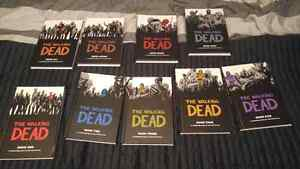 Walking dead hard covers 1-9