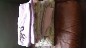 11assorted baby blankets &2 bassinet sheets