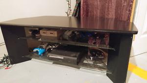 Black tv stand.