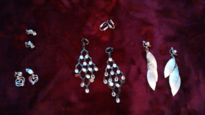 Women's Clip-On Earrings 5 pairs for $10
