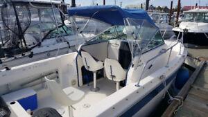 21' Striper w/newer 150 outboard motor with 8.5 years warranty