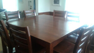 Dining room table and chairs- seats 8
