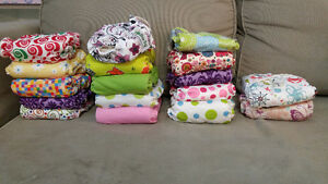32 Cloth diapers. 64 Liners. 3+ rolls disp liners Stratford Kitchener Area image 2