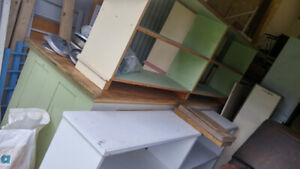 10 foot  antique counter   and other shelving available as per p