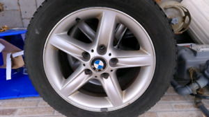 Set of 4 OEM BMW rims and Tires