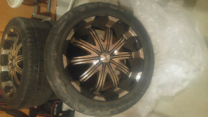 20 inch fast 10 spoked rims black n silver