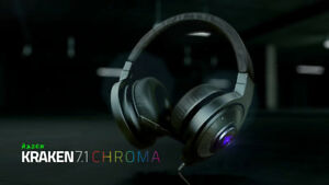 LIGHTLY USED RAZER KRAKEN 7.1 RGB HEADPHONES