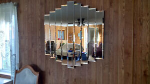 Large Beveled Mirror and 2 Small Mirrors