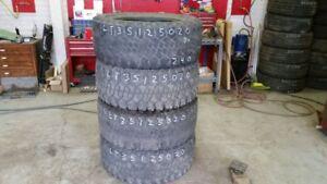 Set of 4 Dick Cepek Radial FCII LT35x12.5R20 tires (40% tread li
