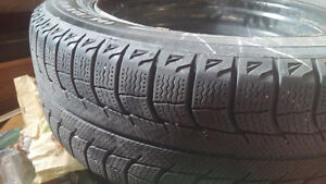 michelin xice 195/60R15 on rims set of 4.  winter tires Cambridge Kitchener Area image 1