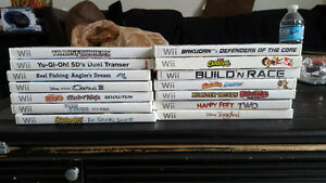 Different Wii games